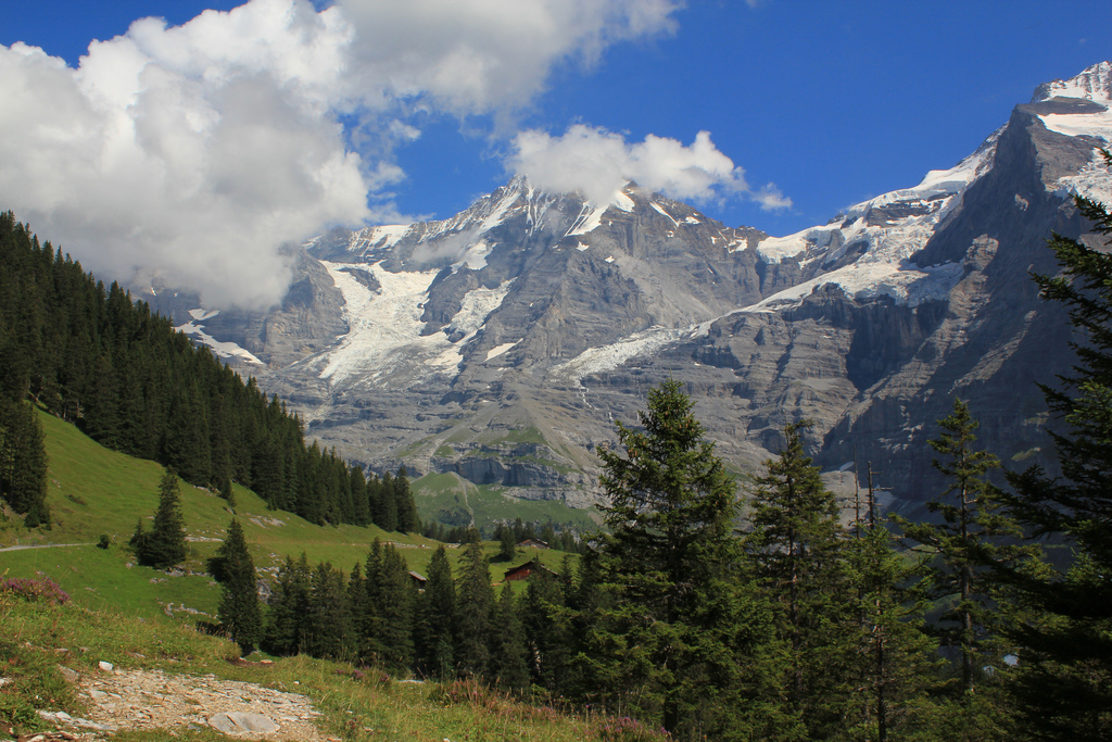 """The famous mountains of Berner Oberland, """"explored"""" :-)"""