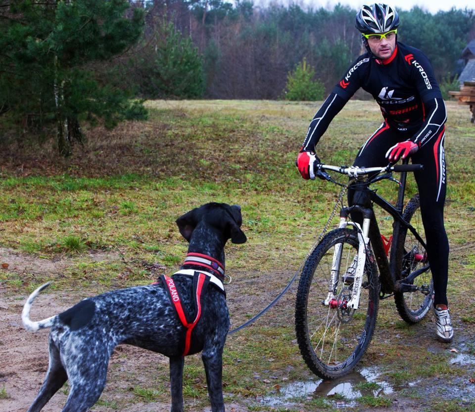 Igor Tracz z psem Jamalem